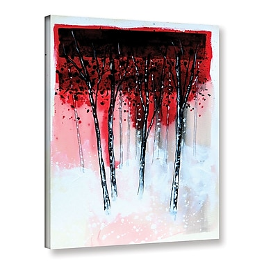 Ivy Bronx 'Forest Sunset' Painting Print on Wrapped Canvas; 10'' H x 8'' W x 2'' D