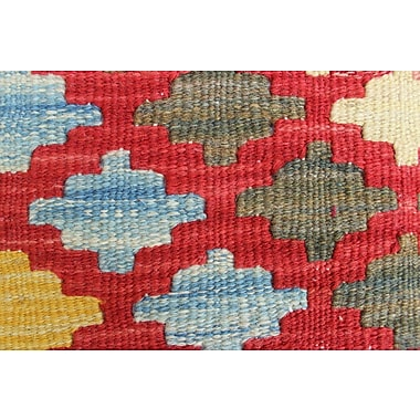 Loon Peak Vallejo Kilim Ceyda Hand-Woven Wool Red Area Rug