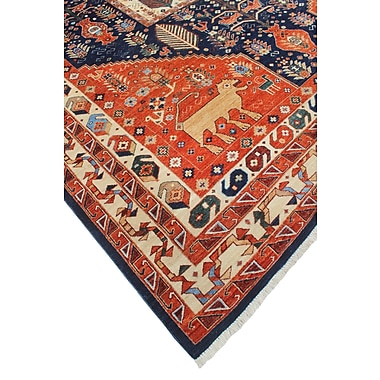 Loon Peak Woodmoor Tamim Hand-Knotted Wool Rust Area Rug