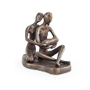 Bloomsbury Market Yigal Couple w/ Baby Bronze Sculpture