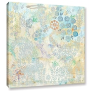 Bungalow Rose 'Watery Blues Paisley Paper' Graphic Art on Wrapped Canvas; 36'' H x 36'' W x 2'' D