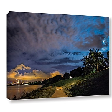Ebern Designs 'Cleveland Lights' Photographic Print on Wrapped Canvas; 18'' H x 24'' W x 2'' D
