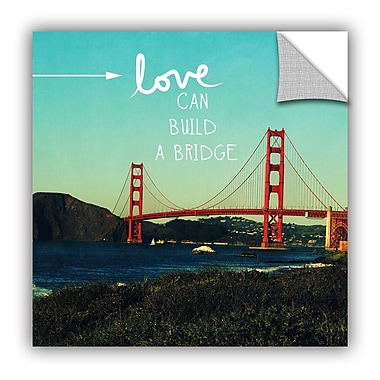 Ebern Designs 'Love Can Build' Graphic Art; 14'' H x 14'' W x 0.1'' D