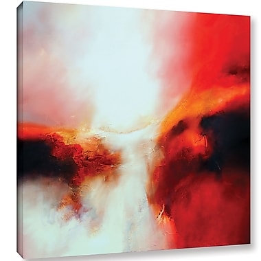 Ebern Designs 'Portent Painting' Print on Wrapped Canvas; 18'' H x 18'' W