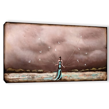 Ebern Designs 'Keeping Time' Painting Print on Wrapped Canvas; 12'' H x 24'' W