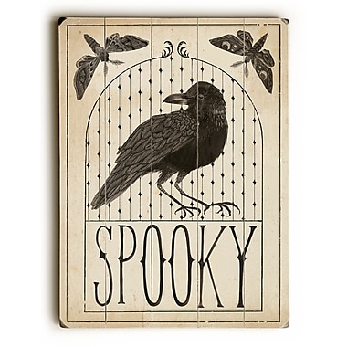 The Holiday Aisle 'Hocus Pocus - Spooky' Graphic Art Print on Wood; 24'' H x 18'' W