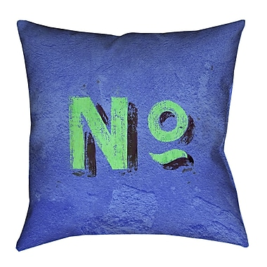 Brayden Studio Enciso Graphic Square Indoor Wall Euro Pillow; Blue/Green