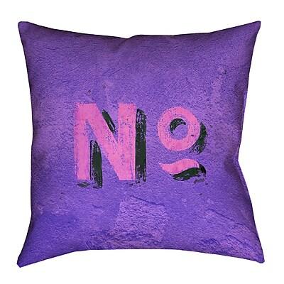Brayden Studio Enciso Graphic Wall 100pct Cotton Euro Pillow; Purple/Pink