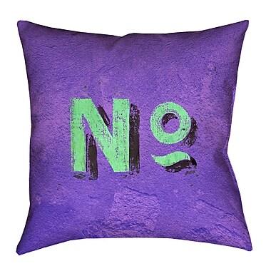 Brayden Studio Enciso Graphic Wall Euro Pillow w/ Zipper; Purple/Green