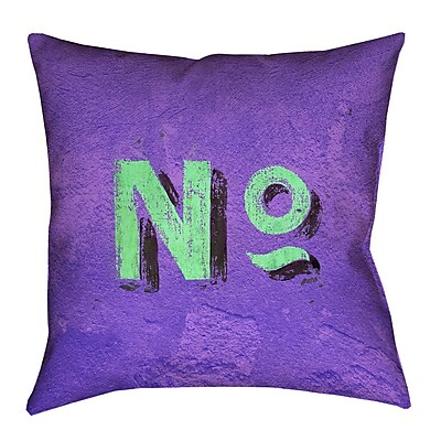 Brayden Studio Enciso Graphic Wall 100pct Cotton Euro Pillow; Purple/Green