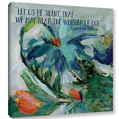Latitude Run 'Let Us Be Silent' Painting Print on Wrapped Canvas; 14'' H x 14'' W x 2'' D