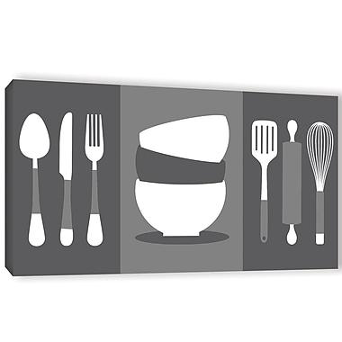 Latitude Run 'Kitchen 2 Utensils' Graphic Art on Wrapped Canvas; 24'' H x 48'' W x 2'' D