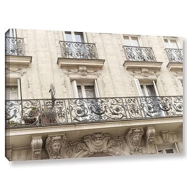 Latitude Run 'Paris Fa ade' Photographic Print on Wrapped Canvas; 24'' H x 36'' W x 2'' D