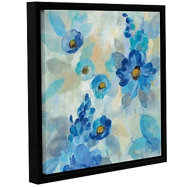 Latitude Run 'Blue Flowers Whisper III' Framed Print on Canvas; 24'' H x 24'' W x 2'' D
