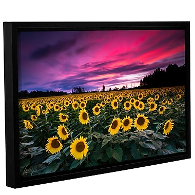 Latitude Run 'Sunflower Sunset' Framed Photographic Print; 36'' H x 48'' W x 2'' D