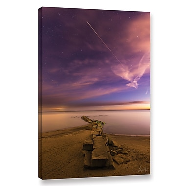 Latitude Run 'Shooting Star at Huntington Beach' Photographic Print on Wrapped Canvas
