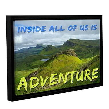 Latitude Run 'Adventure' Framed Graphic Art on Wrapped Canvas; 08'' H x 12'' W x 2'' D