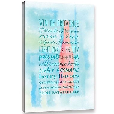 Latitude Run 'Provence Wine' Textual Art on Wrapped Canvas; 36'' H x 24'' W x 2'' D