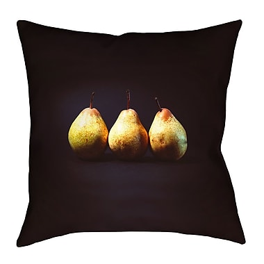 East Urban Home Pears Square Throw Pillow; 20'' x 20''