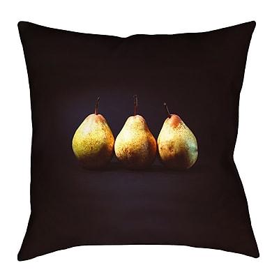 East Urban Home Pears Throw Pillow w/ Zipper; 14'' x 14''