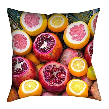 East Urban Home Fruits Double Sided Print Square Pillow Cover; 18'' x 18''