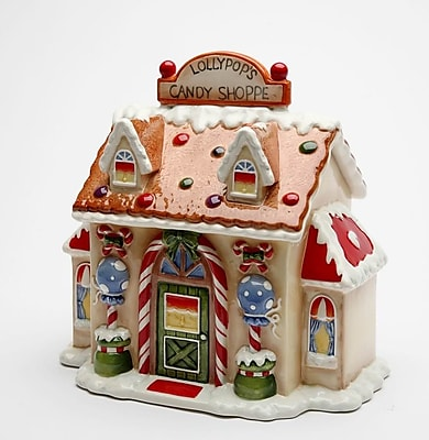 The Holiday Aisle Santa's Village Candy Cookie Jar