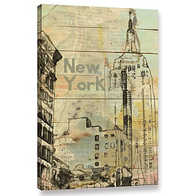 Varick Gallery 'New York New York' Graphic Art Print on Wrapped Canvas; 48'' H x 32'' W x 2'' D