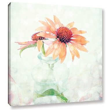 August Grove 'Orange Coneflower' Graphic Art on Wrapped Canvas; 14'' H x 14'' W x 2'' D