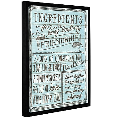 Latitude Run 'Ingredients for Life IV' Framed Textual Art; 32'' H x 24'' W x 2'' D