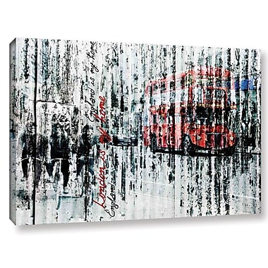 Latitude Run 'London Is My Home' Graphic Art Print on Wrapped Canvas; 16'' H x 24'' W x 2'' D