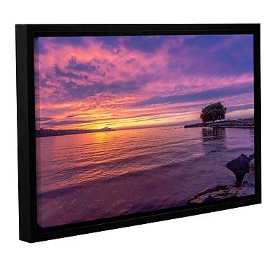 Latitude Run 'Edge Water 1' Framed Photographic Print; 12'' H x 18'' W x 2'' D