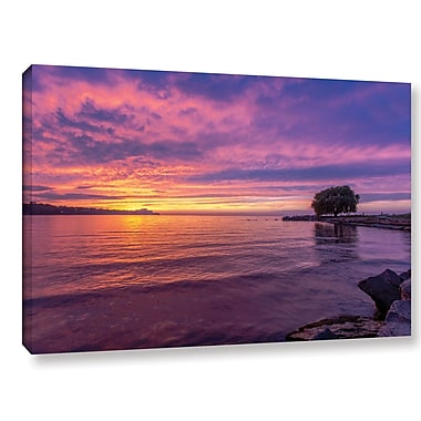 Latitude Run 'Edge Water 1' Photographic Print on Wrapped Canvas; 16'' H x 24'' W x 2'' D