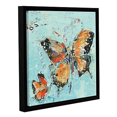 August Grove 'Monarch II Light' Framed Graphic Art; 36'' H x 36'' W x 2'' D