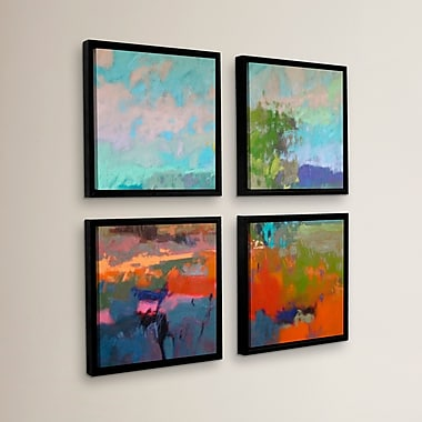 Brayden Studio 'Colorfield XII' 4 Piece Framed Painting Print Set; 36'' H x 36'' W x 2'' D