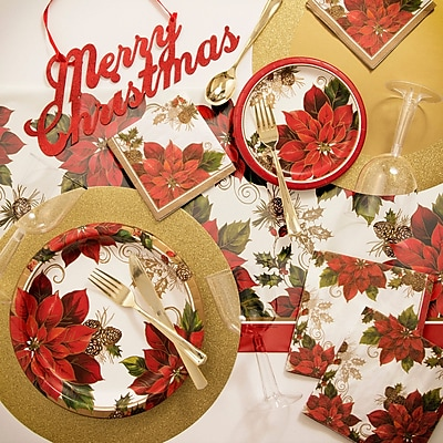 Creative Converting Golden Greenery Deluxe Paper and Plastic Tableware Kit WYF078281902420