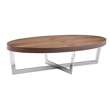 Brayden Studio Bank Street Coffee Table; Hazelnut
