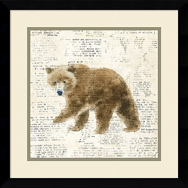 Harriet Bee 'Into the Woods VI no Border (Bear)' Framed Graphic Art Print