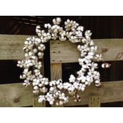 Gracie Oaks Faux Cotton 28'' Wreath