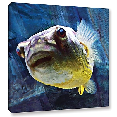 East Urban Home 'Fahaka Puffer' Painting Print on Wrapped Canvas; 10'' H x 10'' W x 2'' D