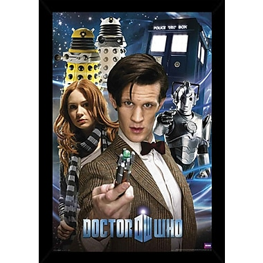 Frame USA 'Doctor Who - Collage' Framed Graphic Art Print Poster