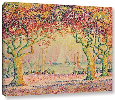 Ebern Designs 'Les Allees, Cannes, 1918-1920' by Paul Signac Painting Print on Wrapped Canvas