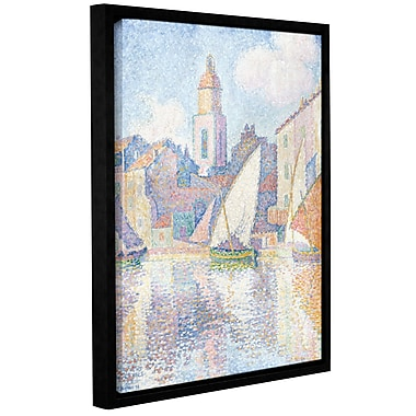 'Bell Tower at Saint Tropez, 1896' by Paul Signac Framed Painting Print on Wrapped Canvas