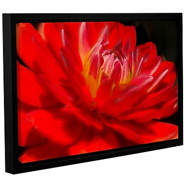 Ebern Designs 'Dahlia Study 6' Framed Painting Print on Wrapped Canvas; 24'' H x 36'' W x 2'' D