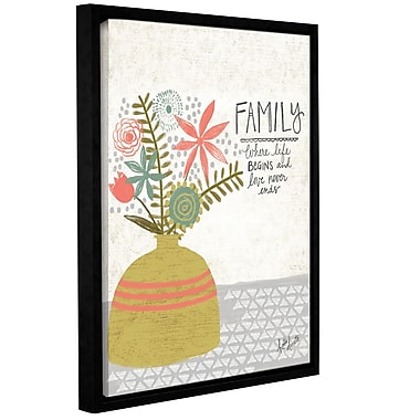 Ebern Designs 'Family' Framed Textual Art on Wrapped Canvas; 18'' H x 14'' W x 2'' D