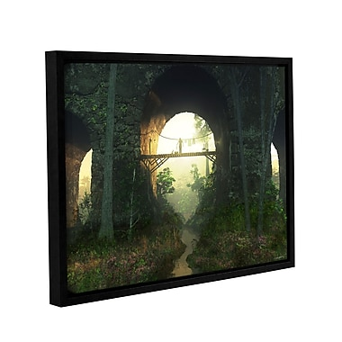 Latitude Run 'Bridge Under The Bridge' Framed Photographic Print on Wrapped Canvas