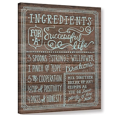Latitude Run 'Ingredients for Life I' Textual Art on Wrapped Canvas; 18'' H x 14'' W x 2'' D