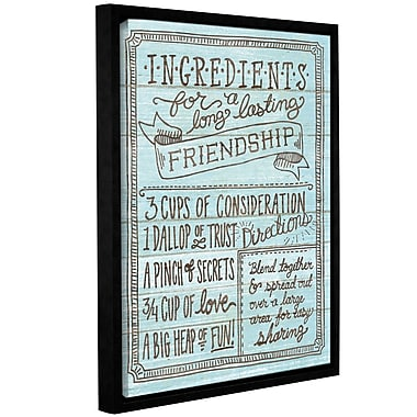 Latitude Run 'Ingredients for Life IV' Framed Textual Art on Wrapped Canvas in Blue
