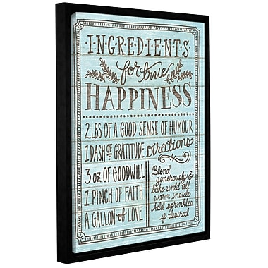 Latitude Run 'Ingredients for Life II' Framed Textual Art on Wrapped Canvas in Blue