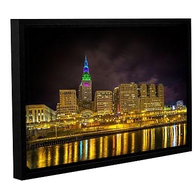 Latitude Run 'Cleveland' Gold Framed Photographic Print; 32'' H x 48'' W x 2'' D