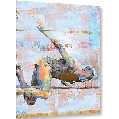 Ebern Designs 'Jump' Graphic Art on Wrapped Canvas; 36'' H x 36'' W